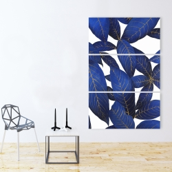 Canvas 40 x 60 - Abstract modern blue leaves