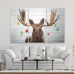 Canvas 40 x 60 - Moose has christmas balls
