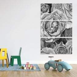 Canvas 40 x 60 - Grayscale roses