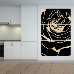 Canvas 40 x 60 - Silhouette of a rose