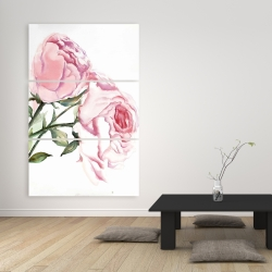 Canvas 40 x 60 - Watercolor pink roses