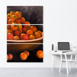 Canvas 40 x 60 - Bowl of cherry tomatoes