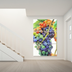 Canvas 40 x 60 - Colorful bunch of grapes