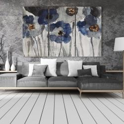 Canvas 40 x 60 - Blue blurry flowers