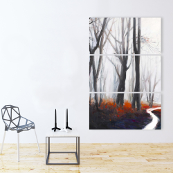Canvas 40 x 60 - Mysterious forest with stream