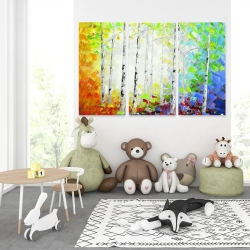 Canvas 40 x 60 - Colorful forest