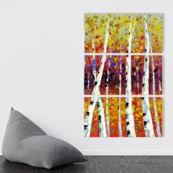 Canvas 40 x 60 - Colored birches