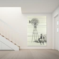 Canvas 40 x 60 - Vintage old texas windmill