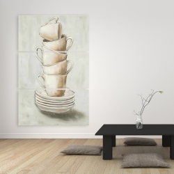 Canvas 40 x 60 - Stacked cups
