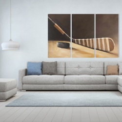 Canvas 40 x 60 - Stick and hockey puck
