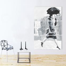 Canvas 40 x 60 - Woman in the rain