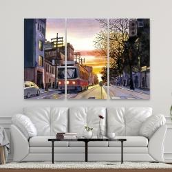 Canvas 40 x 60 - Sunset streetscape to toronto