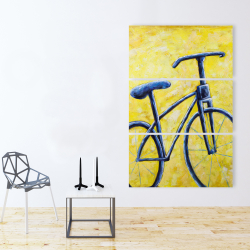 Canvas 40 x 60 - Blue bike abstract