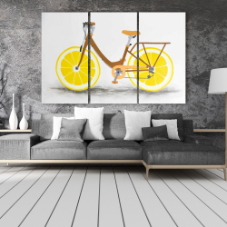 Canvas 40 x 60 - Lemon wheel bike