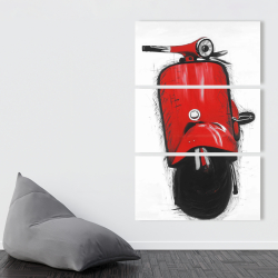 Canvas 40 x 60 - Red italian scooter