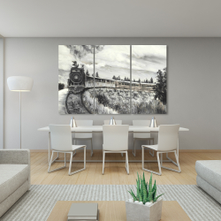 Canvas 40 x 60 - Steam engine train
