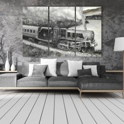 Canvas 40 x 60 - Vintage passenger locomotive