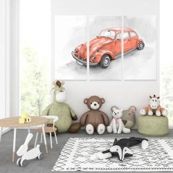 Canvas 40 x 60 - Vintage red beetle