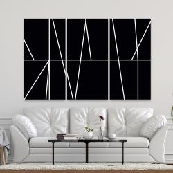 Canvas 40 x 60 - White stripes on black background