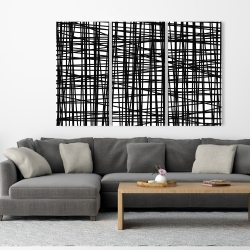 Canvas 40 x 60 - Abstract small stripes