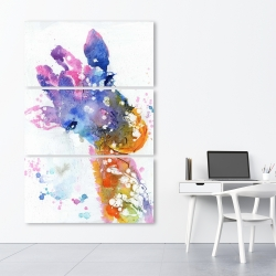 Canvas 40 x 60 - Abstract giraffe with color splash
