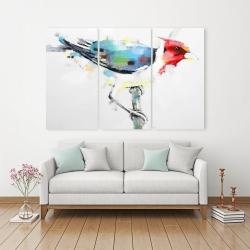 Canvas 40 x 60 - Colorful woodpecker