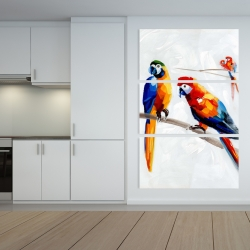 Canvas 40 x 60 - Parrots on a branch