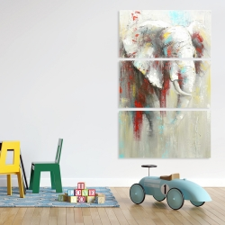 Canvas 40 x 60 - Abstract elephant with paint splash