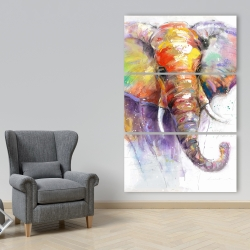 Canvas 40 x 60 - Beautiful and colorful elephant