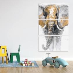 Canvas 40 x 60 - Golden elephant