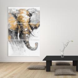Canvas 40 x 60 - Beautiful golden elephant