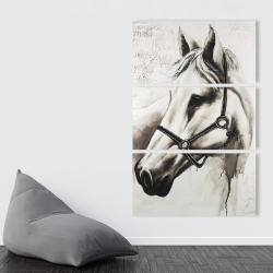 Canvas 40 x 60 - Flicka the white horse