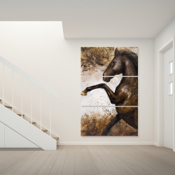 Canvas 40 x 60 - Horse rushing into the soil