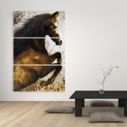 Canvas 40 x 60 - Horse rushing into the dust