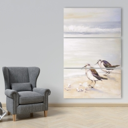 Canvas 40 x 60 - Two sandpipers on the beach