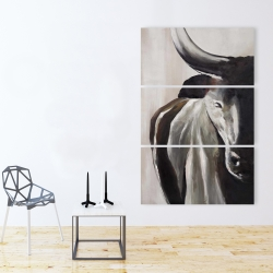 Canvas 40 x 60 - Bull head front view