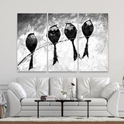 Canvas 40 x 60 - Four birds perched