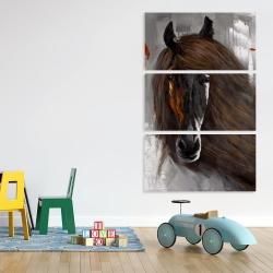 Canvas 40 x 60 - Proud brown horse