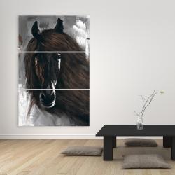 Canvas 40 x 60 - Dark brown horse