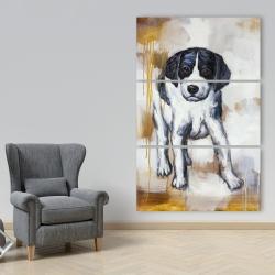 Canvas 40 x 60 - Curious puppy dog