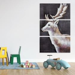 Canvas 40 x 60 - Deer profile view in the dark