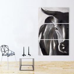 Canvas 40 x 60 - Bull head closeup