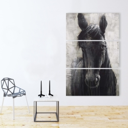 Canvas 40 x 60 - Black horse