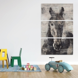 Canvas 40 x 60 - Abstract horse with typography
