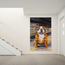 Canvas 40 x 60 - Smiling bulldog