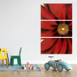 Canvas 40 x 60 - Red daisy