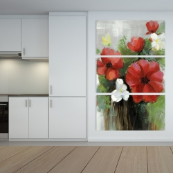 Canvas 40 x 60 - Abstract wild flowers bundle