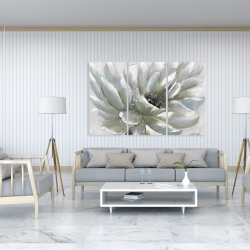 Canvas 40 x 60 - White chrysanthemum