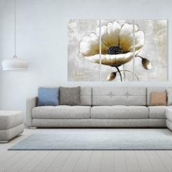 Canvas 40 x 60 - Modern beige flower