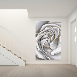 Canvas 40 x 60 - White rose delicate